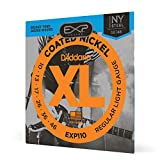 D'Addario EXP110 Coated Nickel-Plated Steel Regular Leicht E-Gitarren Saiten