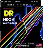 DR Neon Gitarrensaiten NMCE-9 Guitar Strings Multi Colour, lite .009 - .042