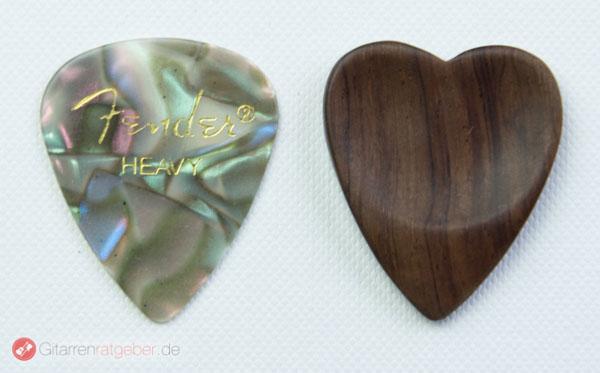 Timber Tones Heart Tones Palisander Größenvergleich