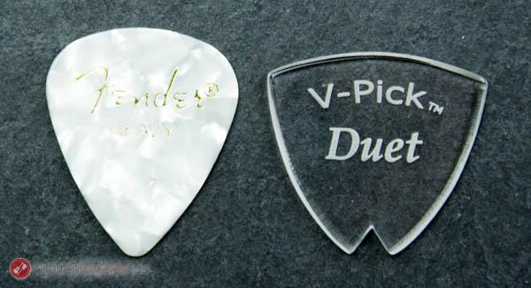 V-Pick Duet Plektrum Größenvergleich