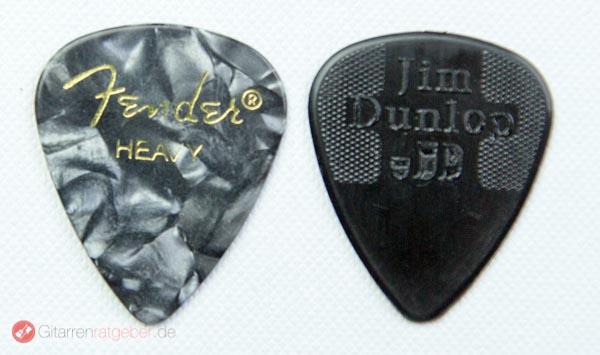 Jim Dunlop Nylon Plektrum Größenvergleich