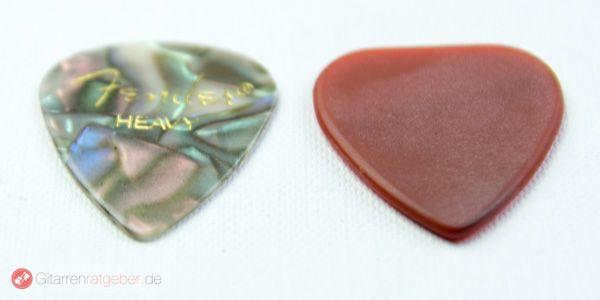 WID Ultimate Stone Pick Plektrum Modell 2A Höhenvergleich